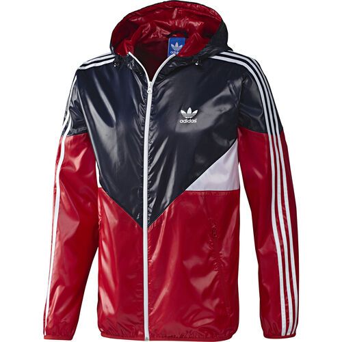 adidas - Men's Colorado Windbreaker Legend Ink / Collegiate Red F77764