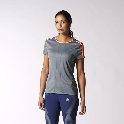 adidas - Femmes Response Tee Vista Grey / Flash Orange S14824