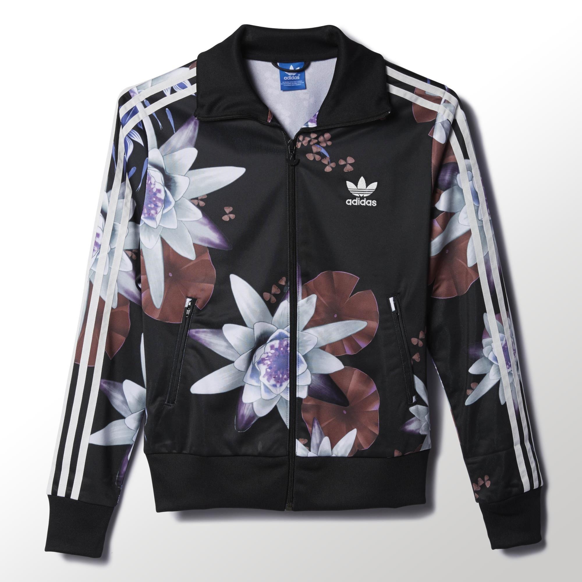 chaqueta adidas flores mujer