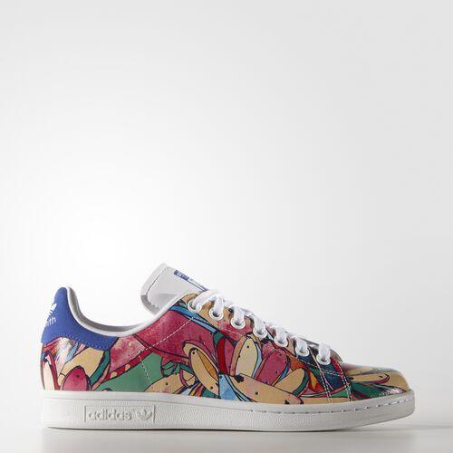 adidas - Femmes Stan Smith Shoes Ftwr White/Ftwr White/Lab Blue F12 S32036