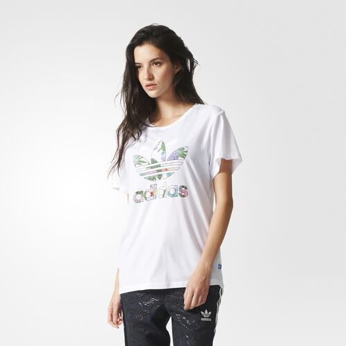 adidas - Femmes Boyfriend Trefoil Tee White AJ8356