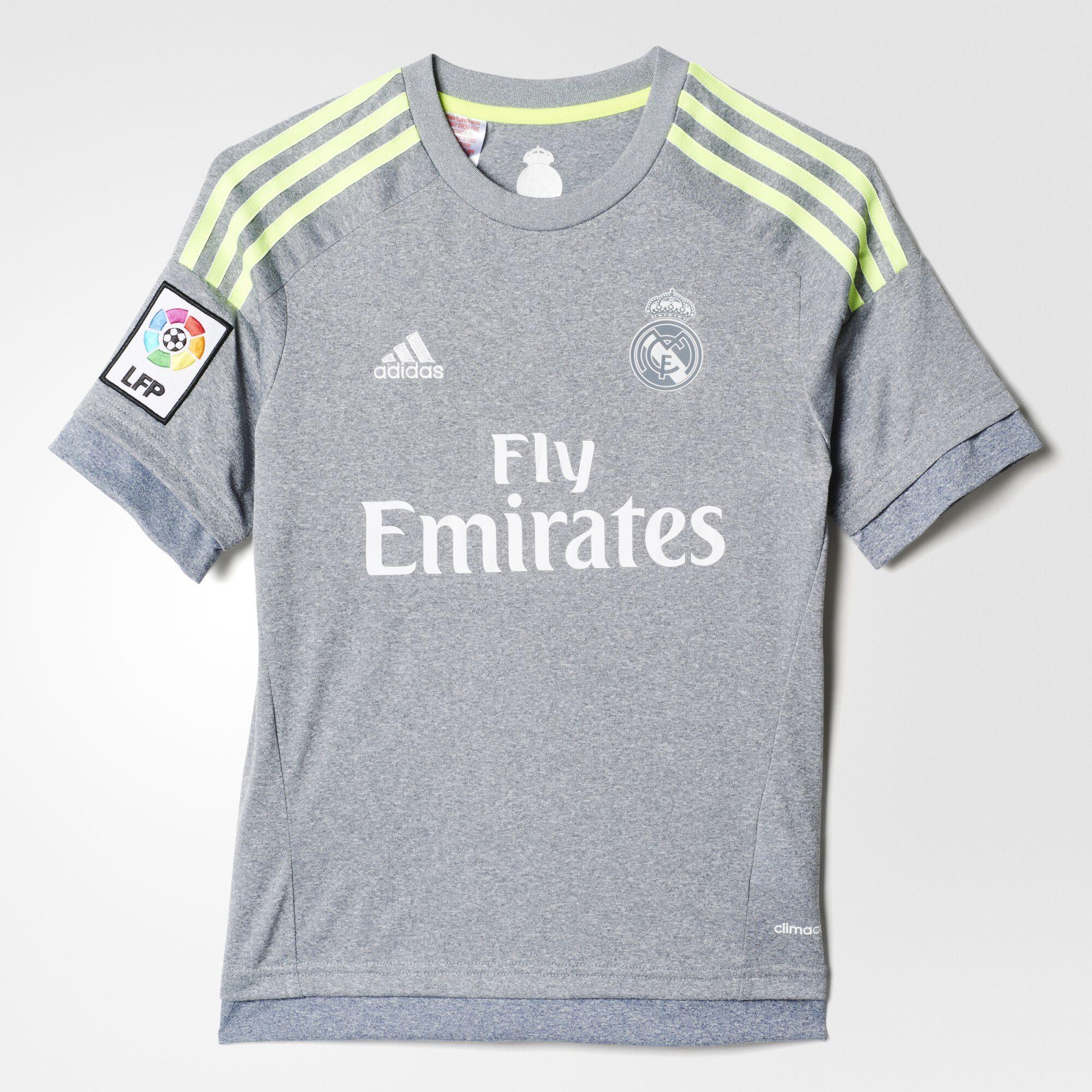 adidas Enfants Real Madrid Away Replica Jersey - Grey . 89741095c