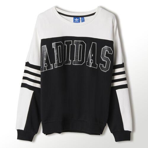 adidas - Women's Logo Sweatshirt Black / Core White M30353