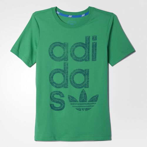 adidas - Youth Reverse Wrap Logo Tee Green S23415