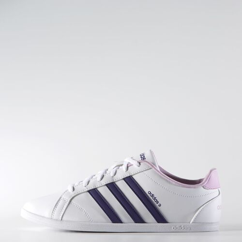 adidas - Women's Coneo QT VS Shoes Ftwr White / Collegiate Purple / Light Orchid F98269