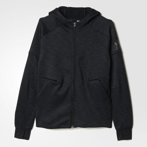 adidas - Enfants adidas Athletics Climaheat Z.N.E. Full-Zip Hoodie Heat Black Mel./Black AX6424