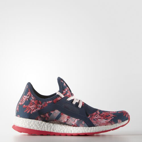 adidas - Femmes Pure Boost X Shoes Blue/Blue/Halo Pink AQ6682