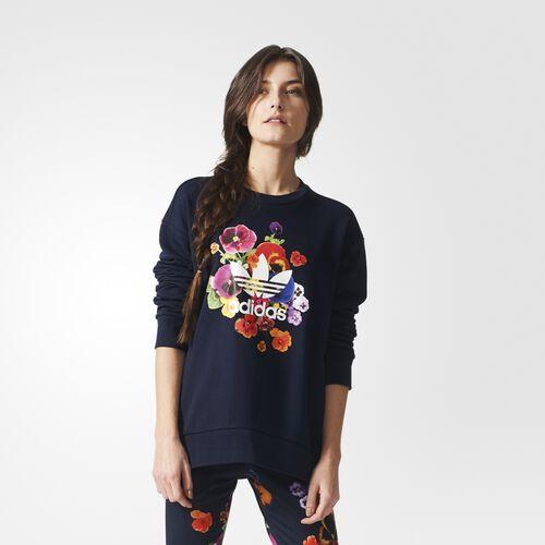 adidas - Women's Floral Sweatshirt Legend Ink AZ3243