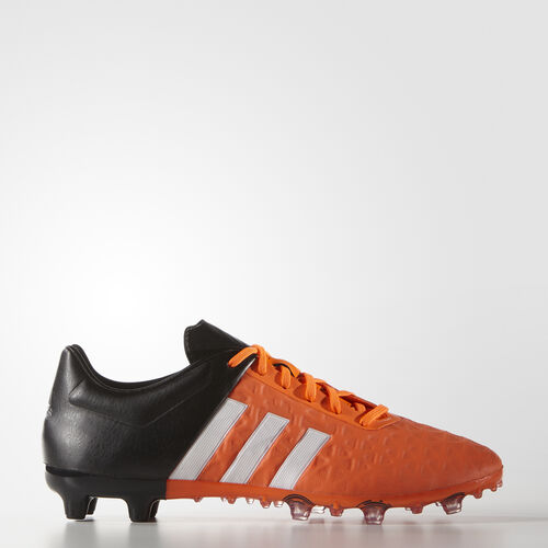 adidas - Men's Ace 15.2 Firm/Artificial Ground Cleats White / Core Black / Solar Orange S83254