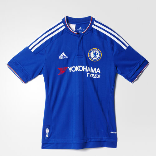adidas - Youth Chelsea FC Home Replica Player Jersey Chelsea Blue/White/Power Red S11681
