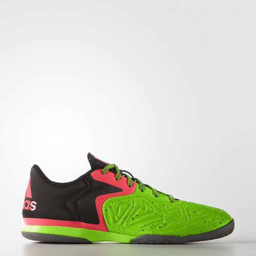 adidas - Hommes X 15.2 Court Shoes Core Black / Flash Red / Solar Green B27117