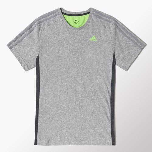 adidas - Hommes Essentials Tonal 3-Stripes Tee Medium Grey Heather M67357