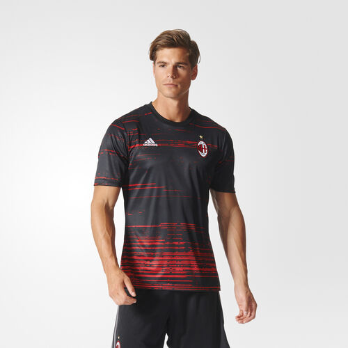adidas - Hommes AC Milan Authentic Home Presentation Jersey Black/Power Red/Real Red S96479