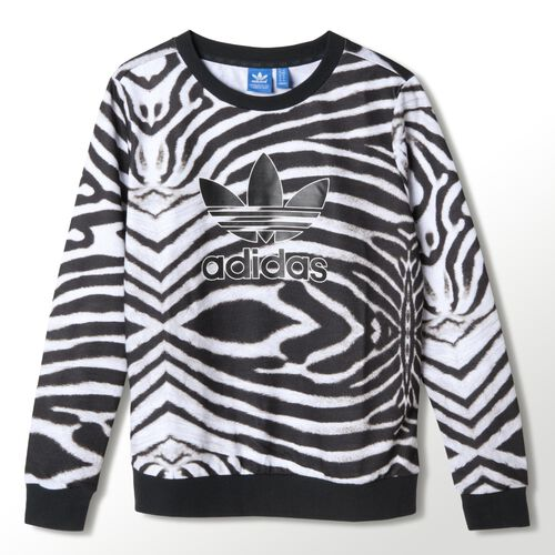 adidas - Women's Allover Trefoil Sweater Multicolor M30413