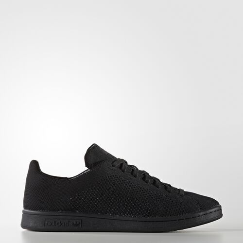 adidas - Men's Stan Smith Primeknit Shoes Core Black/Core Black/Core Black S80065