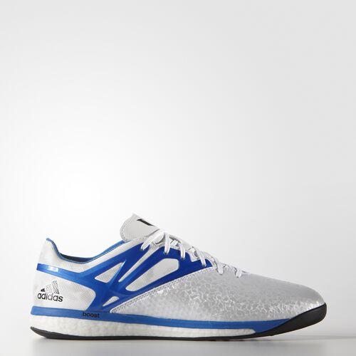 adidas - Men's Messi15.1 Boost Indoor Shoes White/Prime Blue/Core Black B24587