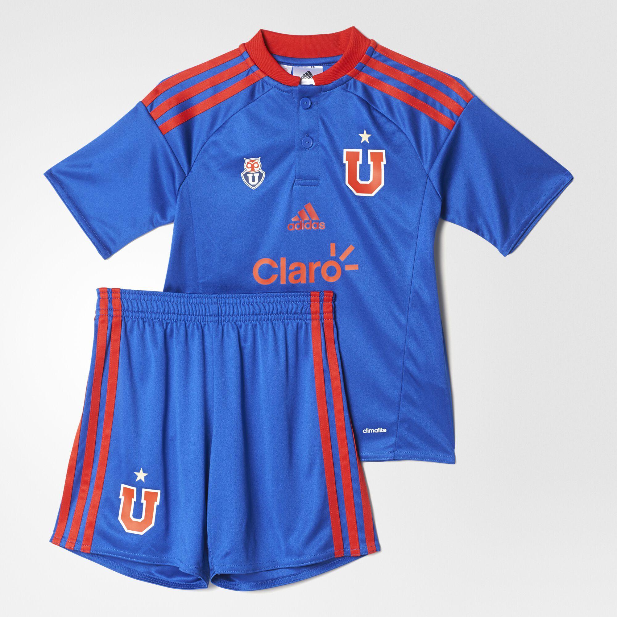 adidas , Minikit Uniforme Local Universidad de Chile TopBold Blue/Red Bottom