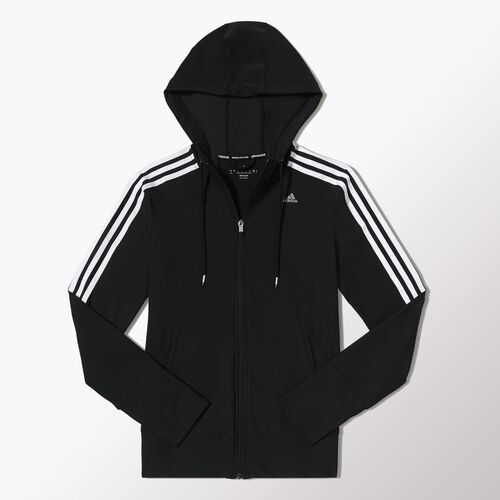 adidas - Women's Core Hooded Track top Black / White D89467