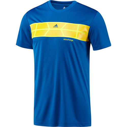 adidas - Men's Nitrocharge Poly Tee Blue Beauty / Collegiate Navy G74009