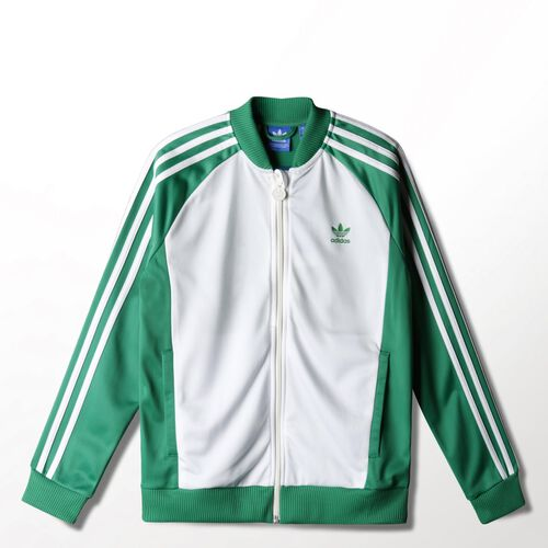 adidas - Youth Superstar Track Jacket Green/Non-Dyed S14616