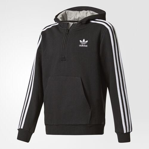 adidas - Hoodie Black  /  Medium Grey Heather  /  White BQ3928
