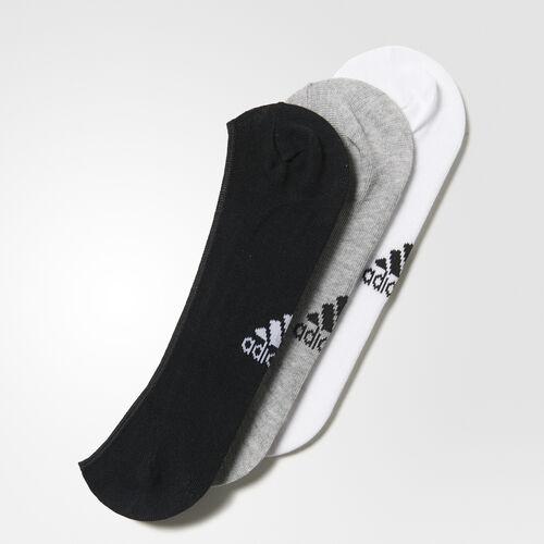 adidas - Performance Invisible Thin Socks - 3 Pairs White/Medium Grey Heather AA2303