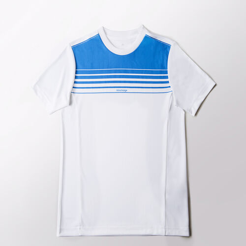 adidas - Enfants Nitrocharge Climalite Tee White/Solar Blue2 S14 M35793