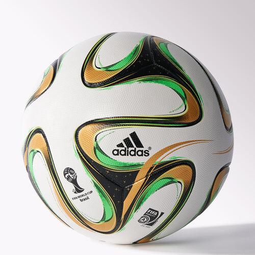 adidas - Brazuca Final Official Match Ball White / Black / Metallic Gold / Solar Green -R G84000
