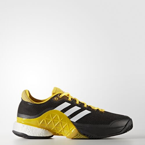 adidas - Barricade Boost 2017 Shoes Core Black  /  Running White  /  Eqt Yellow CG3087