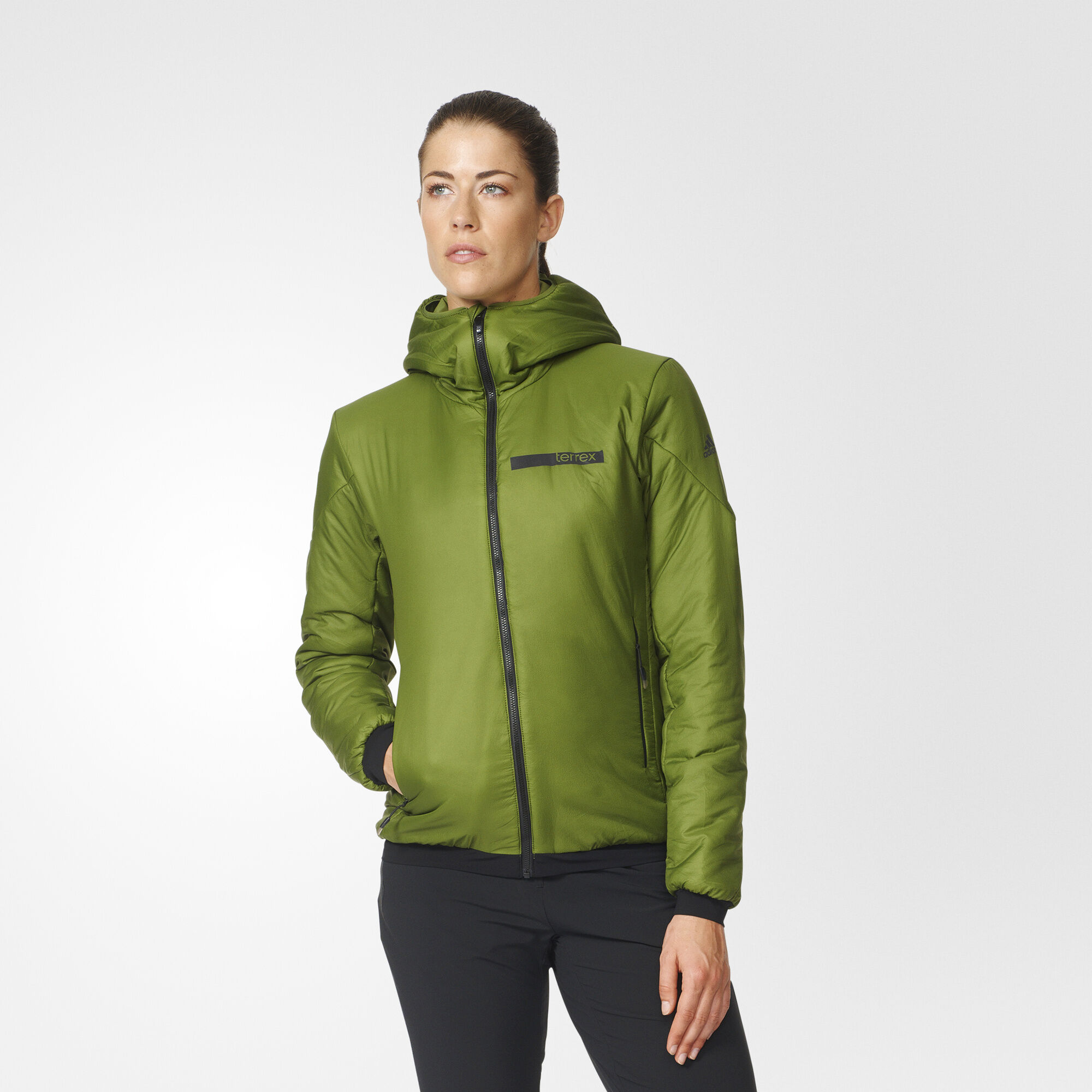 adidas - Terrex Ndosphere Flex Hooded Jacket Craft Green AZ6157 ...
