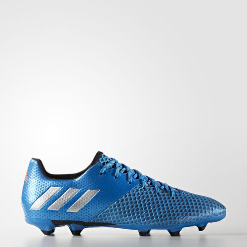 adidas - Messi 16.2 Firm Ground Cleats Shock Blue  /  Matte Silver  /  Core Black AQ3111