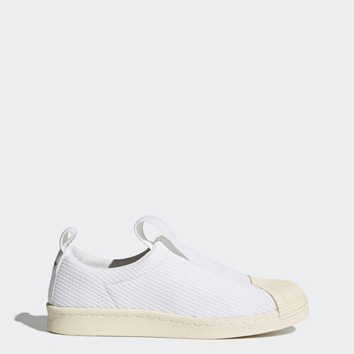 adidas - Superstar Slip-On Shoes Running White Ftw  /  Running White  /  Legacy White BY2949