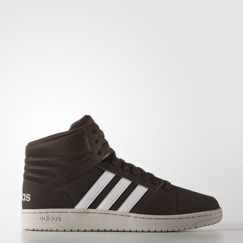 adidas - Hoops VS Mid Shoes Dark Brown  /  Running White  /  Pearl Grey AW4588