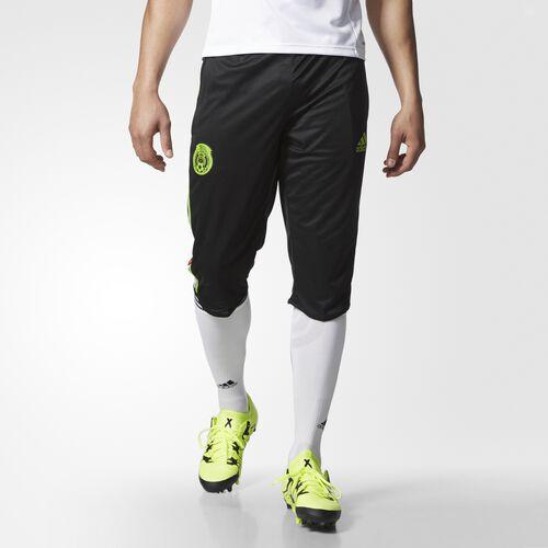 adidas - Mexico Three-Quarter Workout Pants Black  /  Semi Solar Green S13147