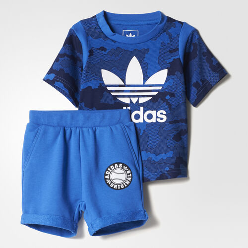 adidas - Trefoil Shorts Set Blue  /  New Navy  /  White BJ8489
