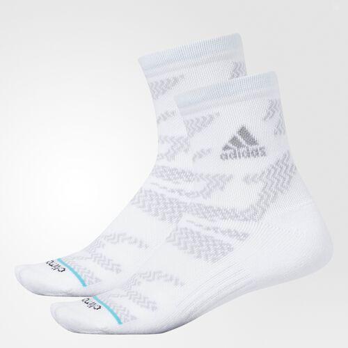 adidas - Tiger Style Quarter Socks 2 Pairs White CI0688