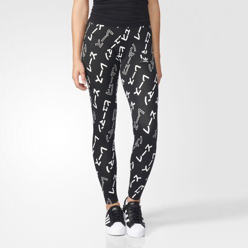 adidas - Pharrell Williams HU AOP Leggings Black  /  White BR1862