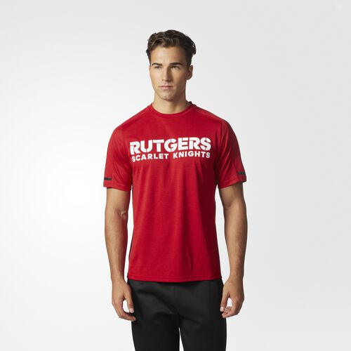 adidas - Scarlet Knights Sideline Performance Tee Power Red  /  Black CT4402