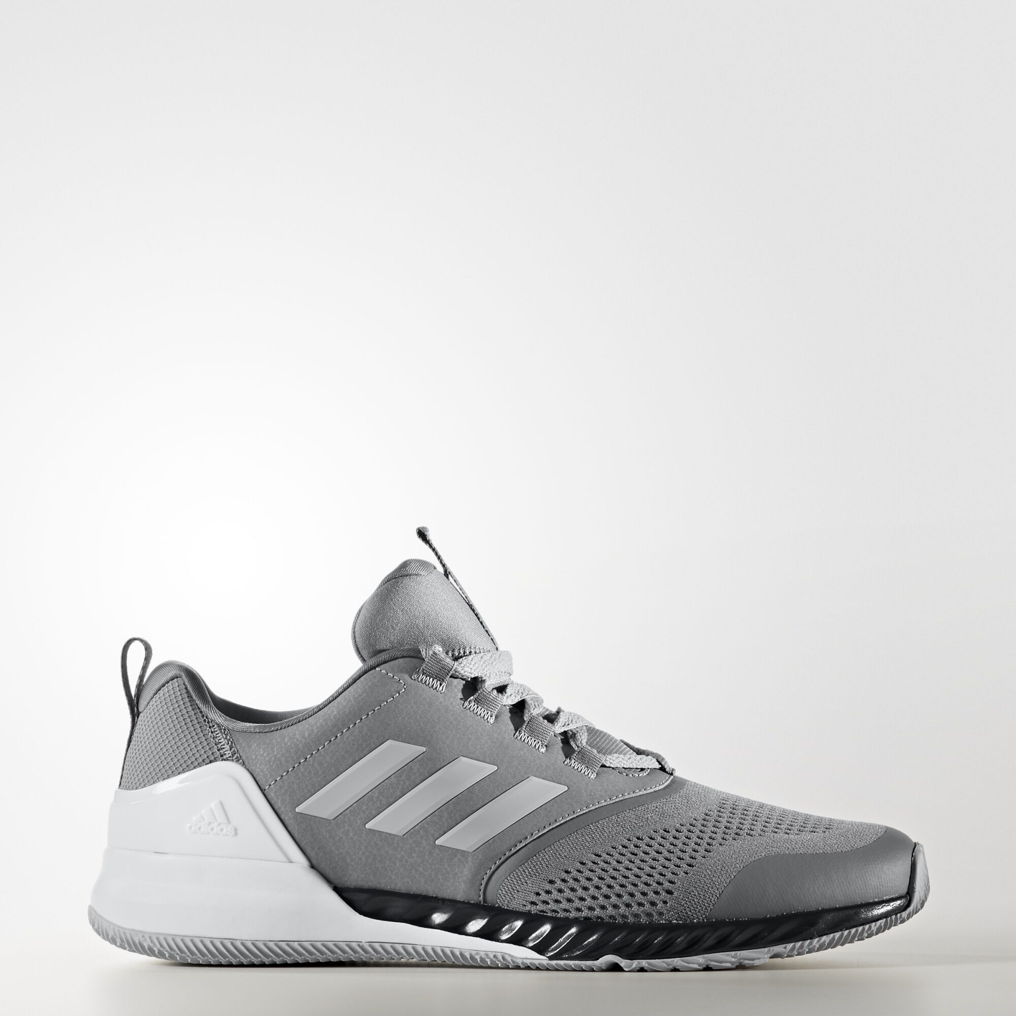 Adidas Bounce Leather Running Shoes Black Mens Silver Handsome Price