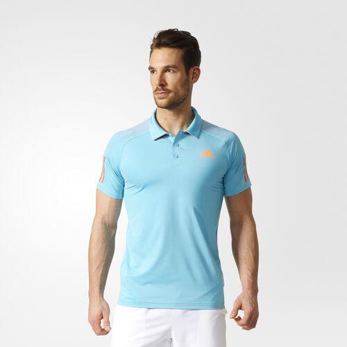 adidas - Barricade Polo Shirt Samba Blue  /  Glow Orange BK0675