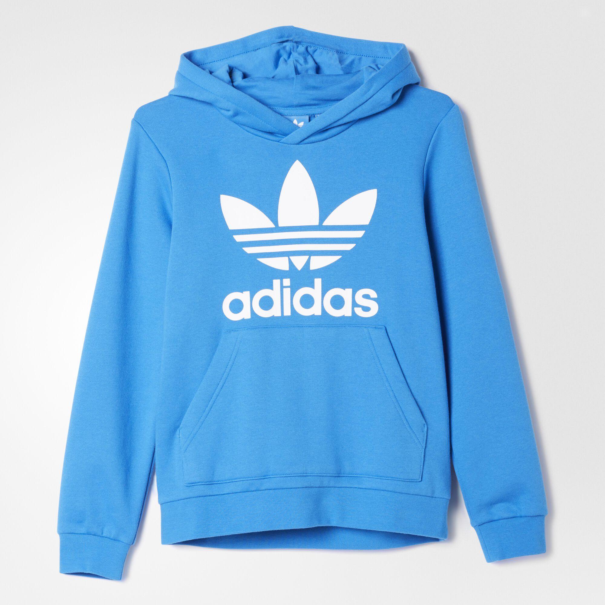 adidas trefoil hoodie blue adidas us. Black Bedroom Furniture Sets. Home Design Ideas