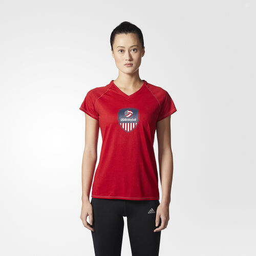 adidas - USA Volleyball Crest Tee Power Red CV2262
