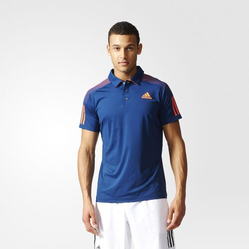 adidas - Barricade Polo Shirt Mystery Blue  /  Glow Orange B45839
