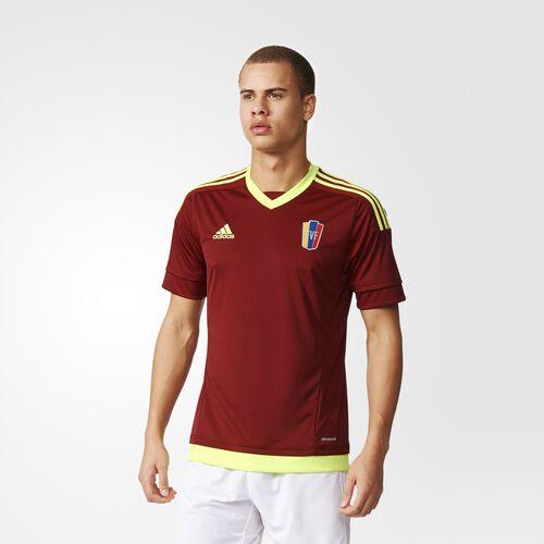 adidas - Venezuela Home Replica Player Jersey Collegiate Burgundy  /  Electricity S08905