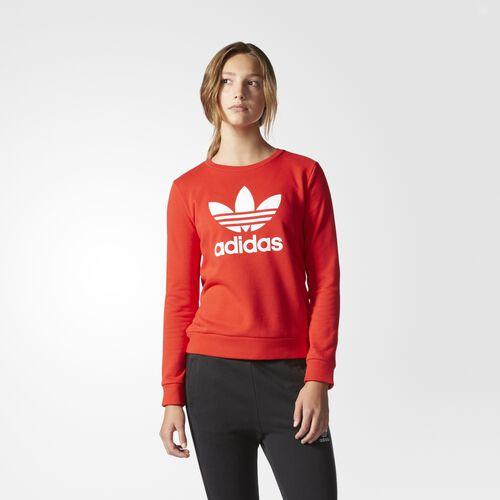 adidas - Trefoil Crew Sweatshirt Vivid Red AY8118