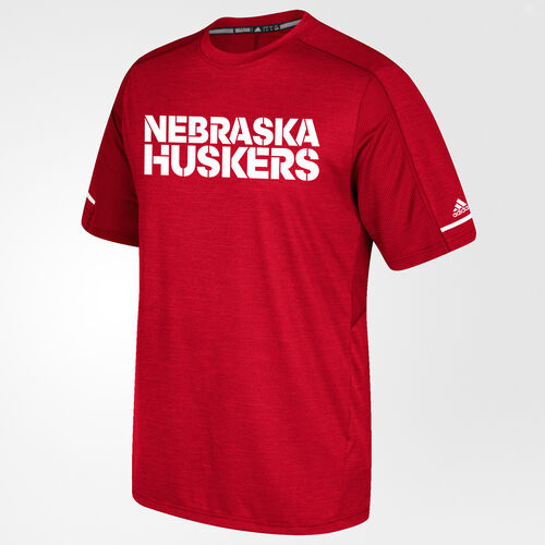 adidas - CORNHUSKERS PERFORMANCE TEE Red BV3007