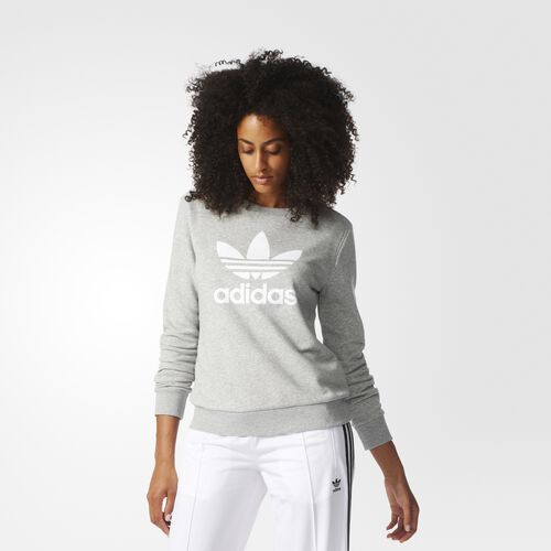 adidas - Trefoil Crew Sweatshirt Medium Grey Heather BR8049