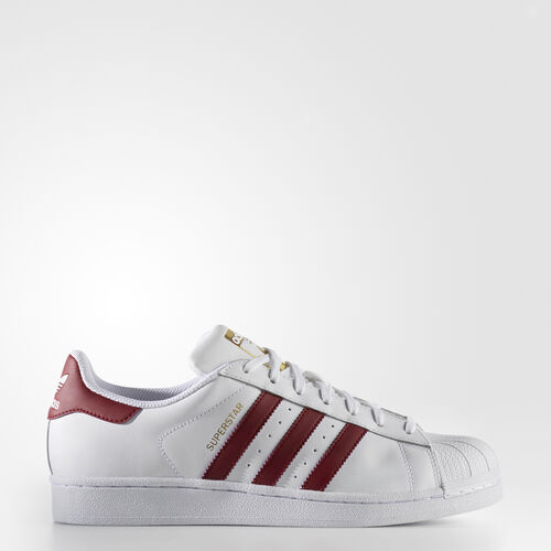 adidas - Superstar Shoes Running White Ftw  /  Cardinal  /  Metallic Gold BY3713