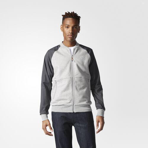 adidas - Sport Luxe Mix Track Jacket Medium Grey Heather AY8824