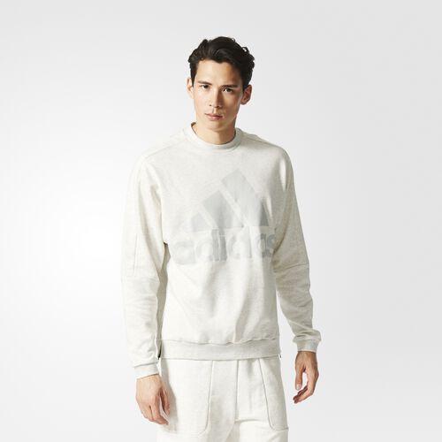 adidas - Heavy Terry Crew Sweatshirt White Melange AX9930